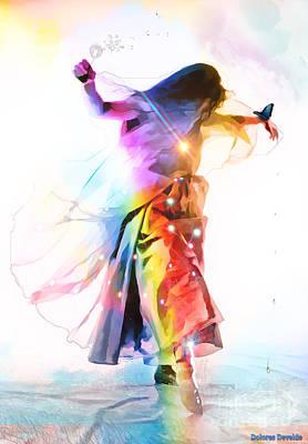 God Colors Art Print by Dolores Develde
