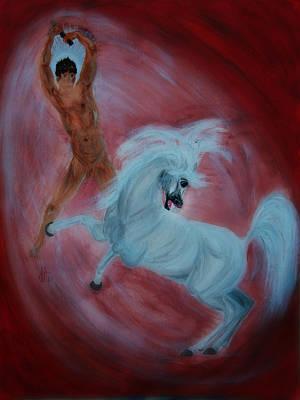 Framed Digital Art Mixed Media - God Created The Arabian Horse by ELA-EquusArt