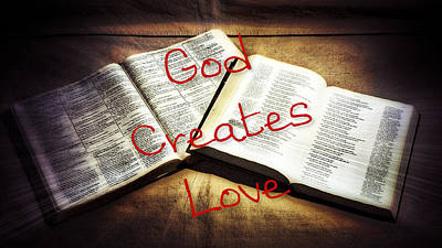 Photograph - God Creates Love Canvas by Philip A Swiderski Jr