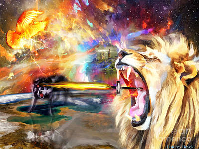 Fight Digital Art - God Fights For You by Dolores Develde