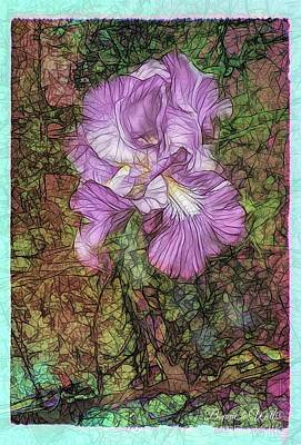 Digital Art - Beauty Of The Iris by Bonnie Willis