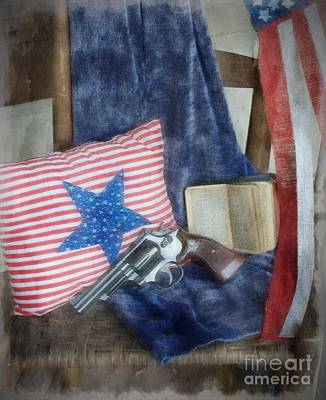 God, Guns And Old Glory Art Print by Benanne Stiens