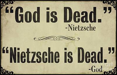 God Is Dead Nietzsche  Art Print