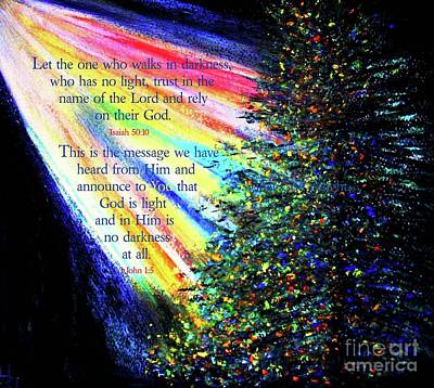 Painting - God Is Light by Hazel Holland