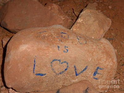 Photograph - God Is Love Red Rock by Marlene Rose Besso