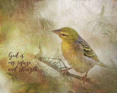 Digital Art - God Is My Refuge by Ramona Murdock