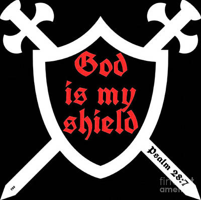 Photograph - God Is My Shield 002 by Robert ONeil