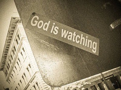 Photograph - God Is Watching by TK Goforth