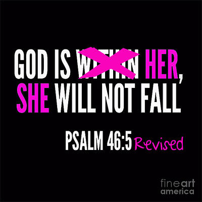 God Is Within Her Revised  Art Print