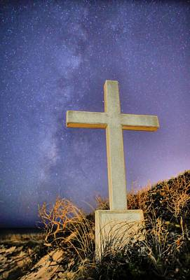 Moonlit Night Photograph - God by JC Findley