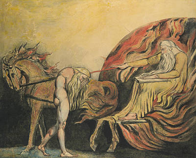 Relief - God Judging Adam by William Blake