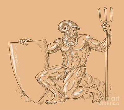 God Neptune Or Poseidon Art Print