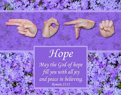 God Of Hope Art Print