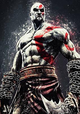 Digital Art - God Of War - Kratos by Taylan Apukovska