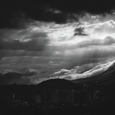 Photograph - God Rays In Quito, Ecuador by Alexandre Rotenberg