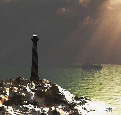 Swordfish Mixed Media - God Rays by Steven Palmer