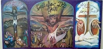 John 3.16 Painting - God Saw The Gain by Darlene Ricks- Parker