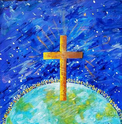 Painting - God So Loved The World by Lou Ann Bagnall