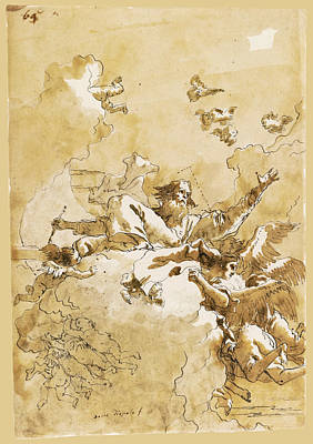 Drawing - God The Father In Glory by Giovanni Domenico Tiepolo