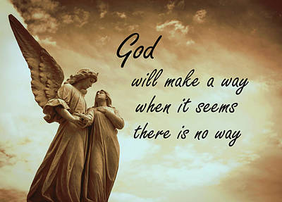 God Will Make A Way Art Print by KaFra Art