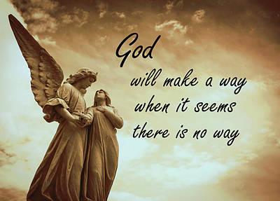 Religious Art Mixed Media - God Will Make A Way by KaFra Art