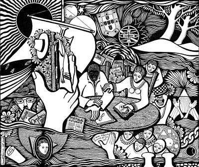 God Wills Man Dreams The Work Is Born Art Print by Jose Alberto Gomes Pereira