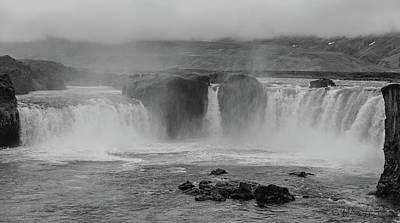 Photograph - Godafoss, Iceland - 6654,sw by Wally Hampton