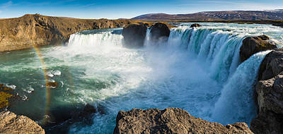 Photograph - Godafoss Waterfall Iceland Panorama by Matthias Hauser