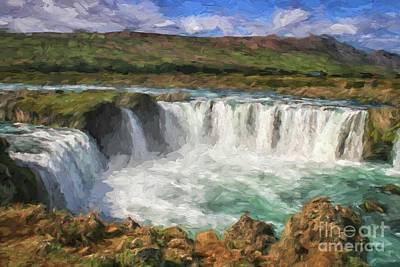 Photograph - Godafoss Waterfall, Iceland by Patricia Hofmeester