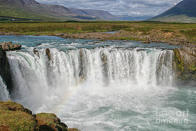Photograph - Godafoss Waterfalls by Patricia Hofmeester