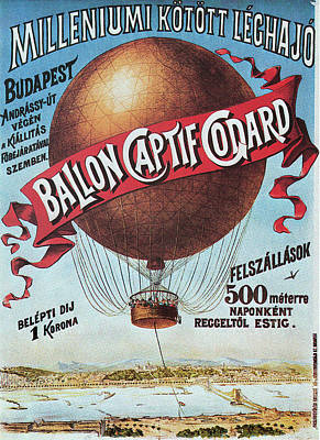 Drawing - Godard's Balloon, 1896.  by Granger