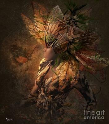 Digital Art - Goddess Of The Night Light  by Ali Oppy