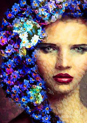 Painting - Goddess 571 by Maciej Mackiewicz