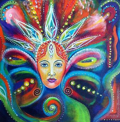 Celebration Of The Feminine Painting - Goddess  by Alex Florschutz