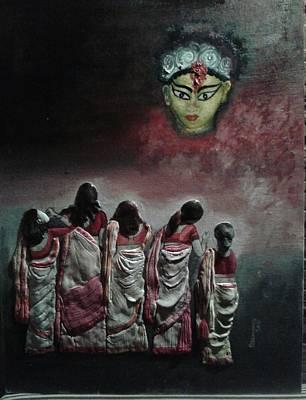 Goddess Durga- Reverence Original by Manomoy Das