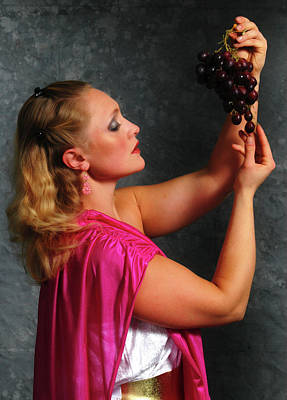 Photograph - Goddess Eating Grapes by Mike Martin