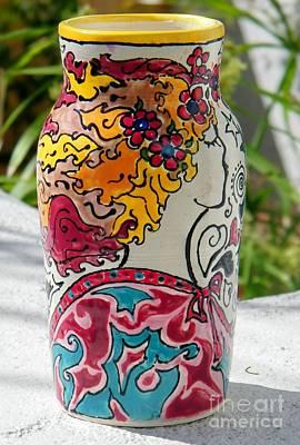 Ceramic Art - Goddess Enjoying The Breeze by Lisa Dunn