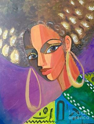 Orishas Wall Art - Painting - Goddess by Esther Yulfo