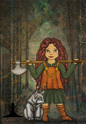 Norse Goddess Painting - Goddess Freya by Lee DePriest