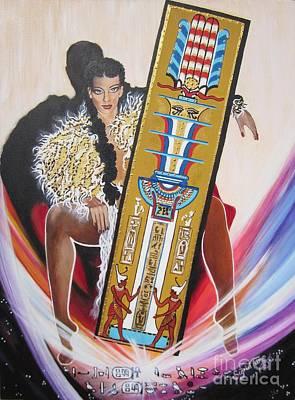 Painting -  The  Tet Of Osiris Fra Blaa  Kattproduksjoner  by Sigrid Tune