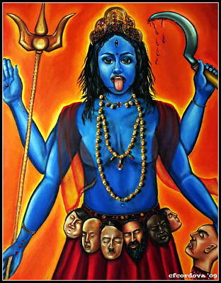 Hindu Goddess Mixed Media - Goddess Kali  by Carmen Cordova