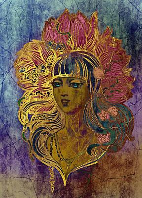 Goddess Lotus I Art Print by Irina Effa