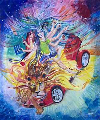 Goddess Of 21st C Original by Sarabjit Singh