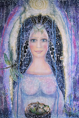 Anticipation Mixed Media - Goddess Of Anticipation by Lila Violet