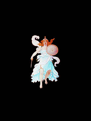 Painting - Goddess Of Courage by Tony Rubino