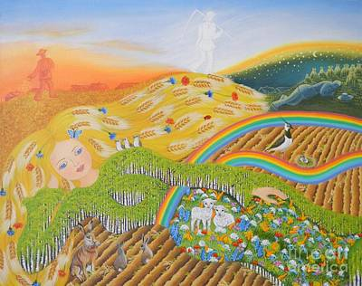 Lithuanian Painting - Goddess Of Earth by Loreta Mickiene