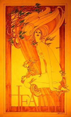 Goddess Of Health Art Print by Gary Kaemmer