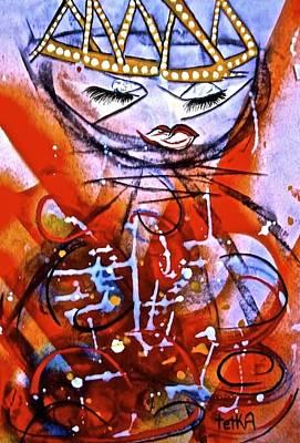 Archetype Painting - Goddess Of Passion by Tetka Rhu