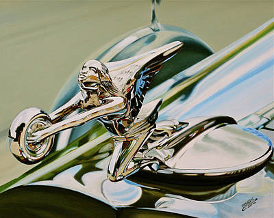 Painting - Goddess Of Speed Ornament by Branden Hochstetler
