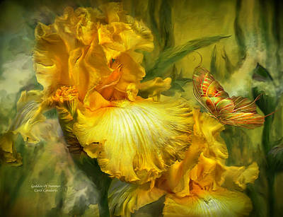 Romantic Art Mixed Media - Goddess Of Summer by Carol Cavalaris
